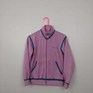 Vintage 80's Adidas pink and teal track top
